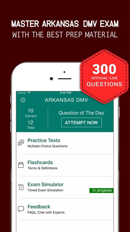 Arkansas DMV Practice Exam Prep 2017 – Q&A Flashca