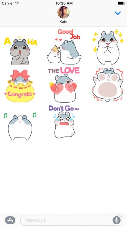 Cheerful Hamster - Animated Stickers