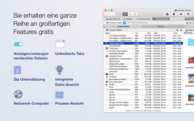 commander one dual fenster datei manager im mac app store. Black Bedroom Furniture Sets. Home Design Ideas