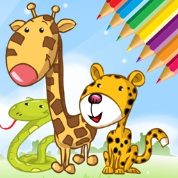 Animals Cute Coloring Book for kids - Drawing game by Manaichai Srimarueang
