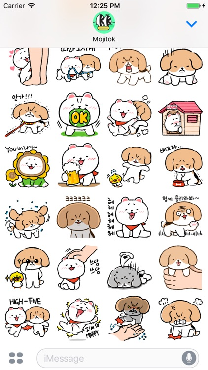Beagle and Pomeranian Stickers