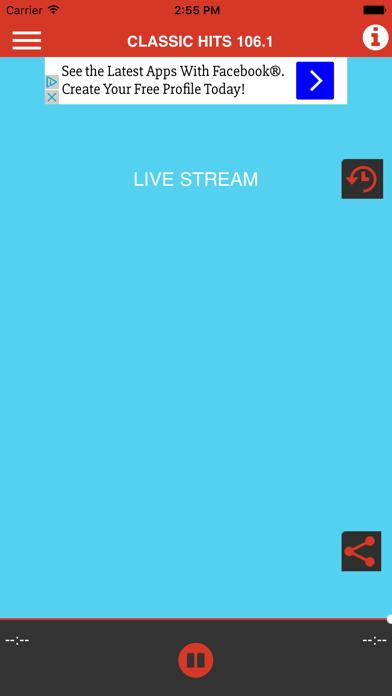 Classic Hits 106.1 screenshot one