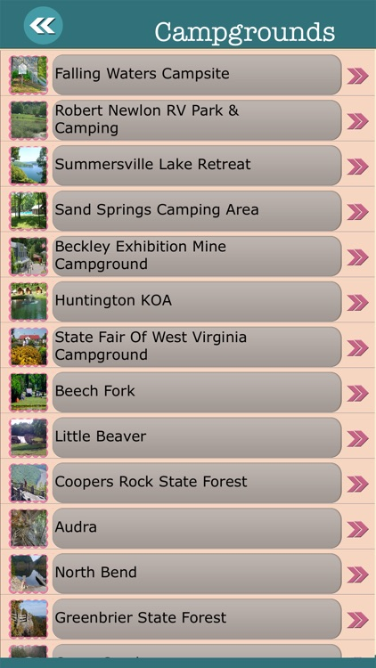 West Virginia State Campgrounds & Hiking Trails