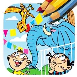 Zoo Animal Coloring Page Game For Kids by Piyawan Chumnarnchanan