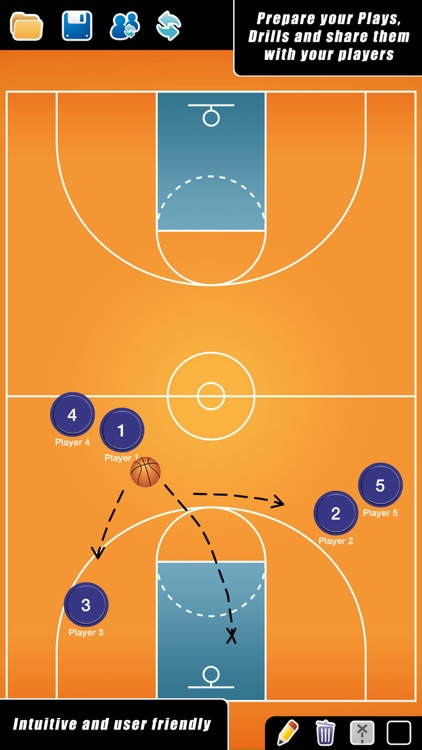 Coach Tactic Board: Basket screenshot-0