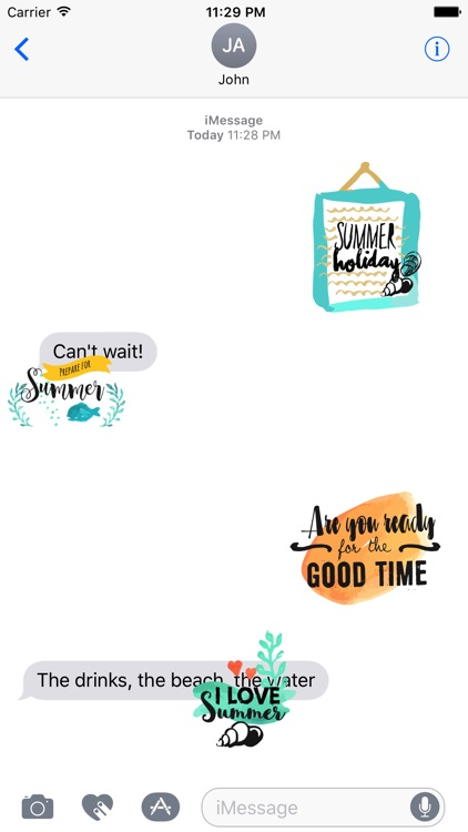 Animated Summer Quote Stickers screenshot-3