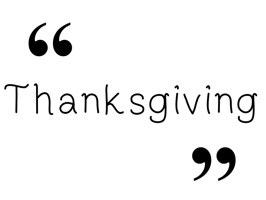 Thanksgiving Quotes - A to Z Stickers