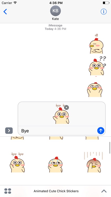 Animated Cute Chick Stickers For iMessage