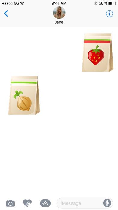 Einkaufstasche Sticker PackScreenshot von 2