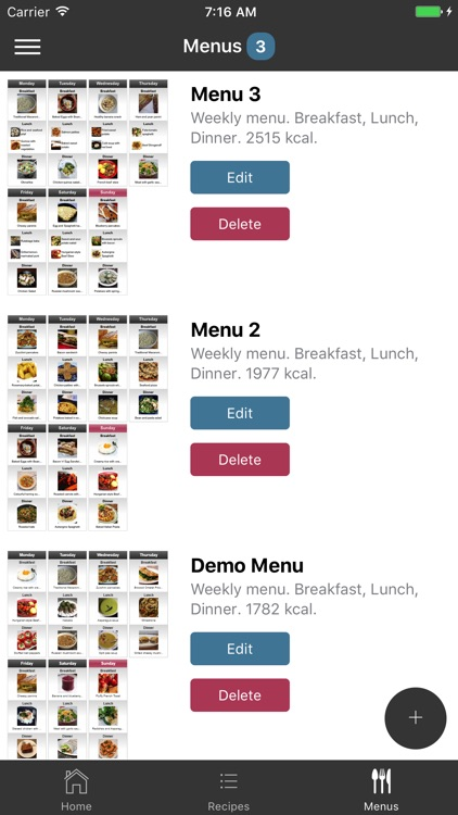 EasyMenu Balanced Meal Planner screenshot-1