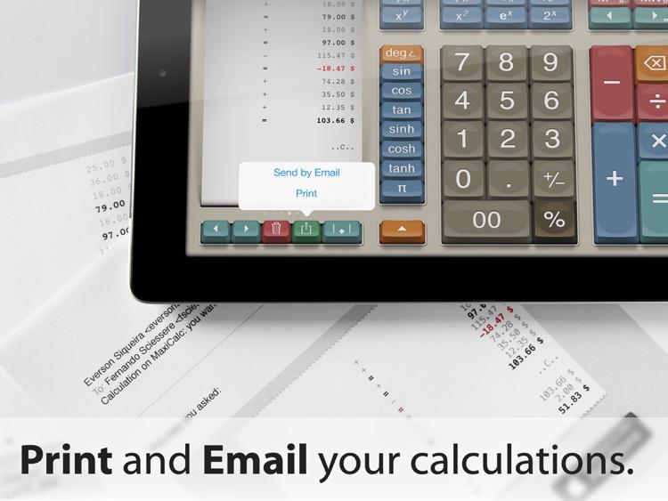 MaxiCalc Pro: Big Retro LCD Paper Tape Calculator screenshot-3