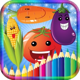 Coloring Book Fruit