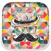 Hipster Stickers Style & Emoji Keyboard Themes