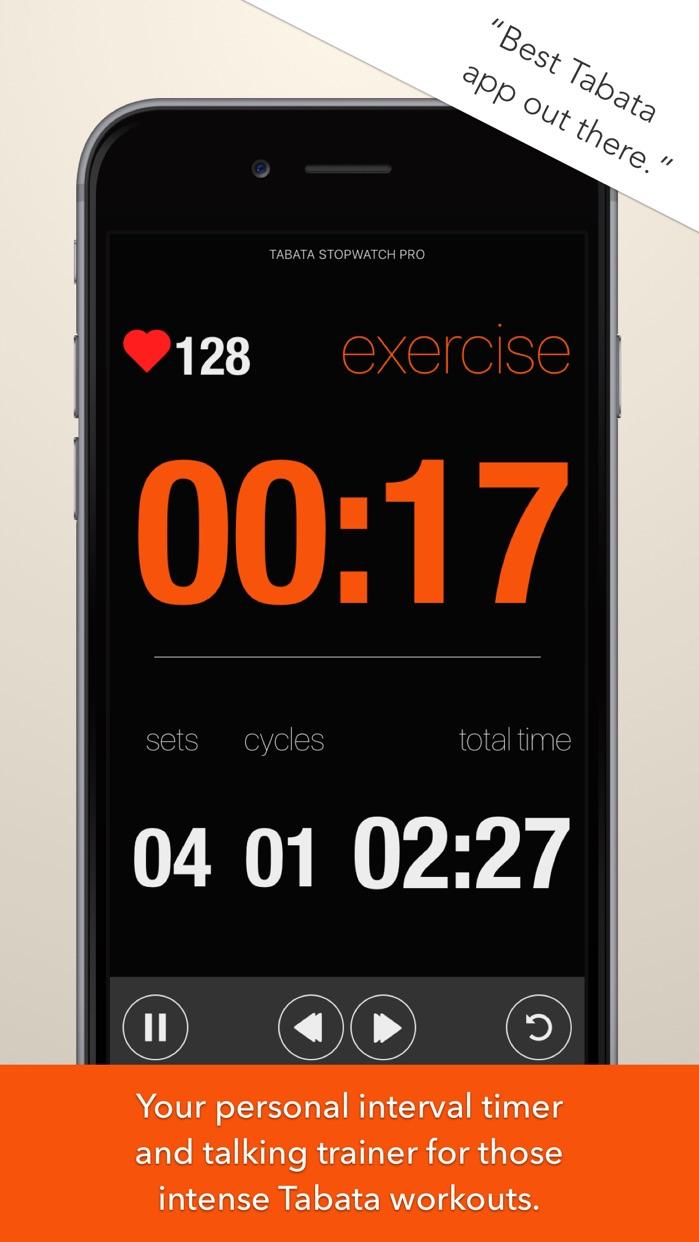 Tabata Stopwatch Pro Screenshot
