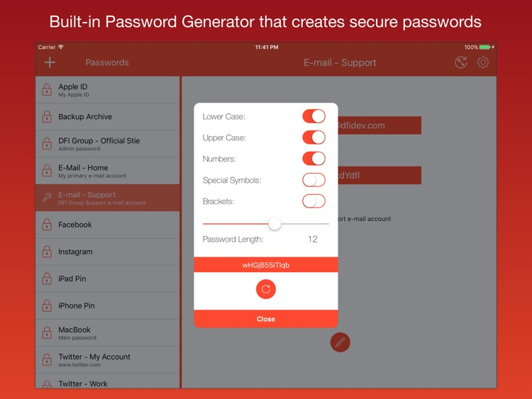 iPassworder for iPad