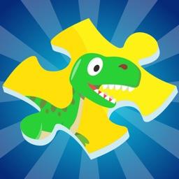 dino jigsaw learning game for kids in kindergarten