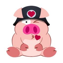 Cute Piggy Commando stickers by CandyASS