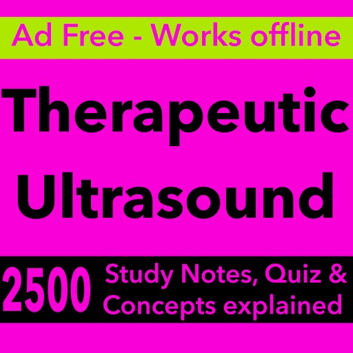 Therapeutic Ultrasound Exam Review & Test Bank App