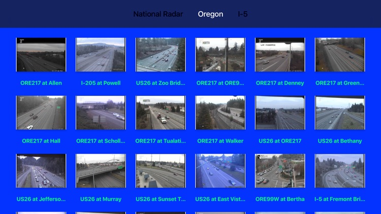 Oregon NOAA Radar with Traffic Cameras 3D Pro