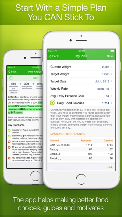 MyNetDiary PRO - Calorie Counter and Food Diary screenshot-1