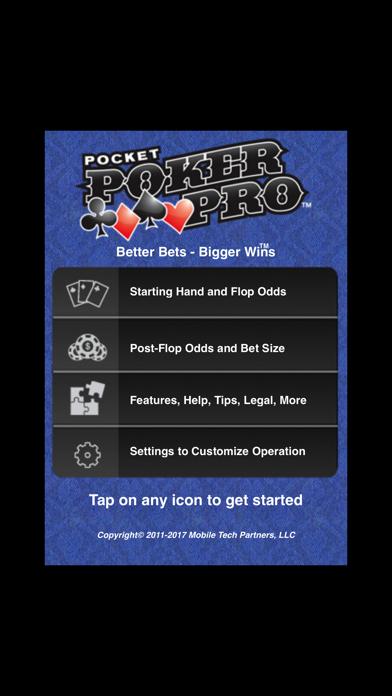 Pocket Poker Pro screenshot one