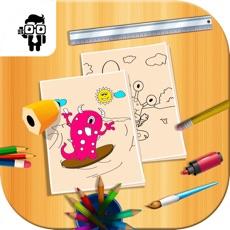 Activities of Monster Kids Coloring Book