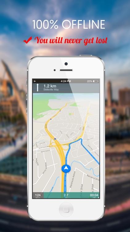 Valencia, Spain : Offline GPS Navigation