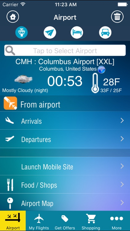 Columbus Airport Pro (CMH) + Flight Tracker