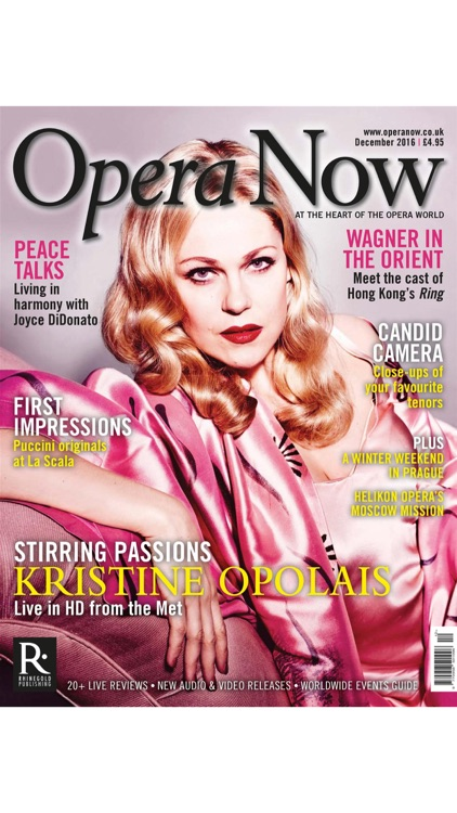Opera Now - the magazine at the heart of the opera world