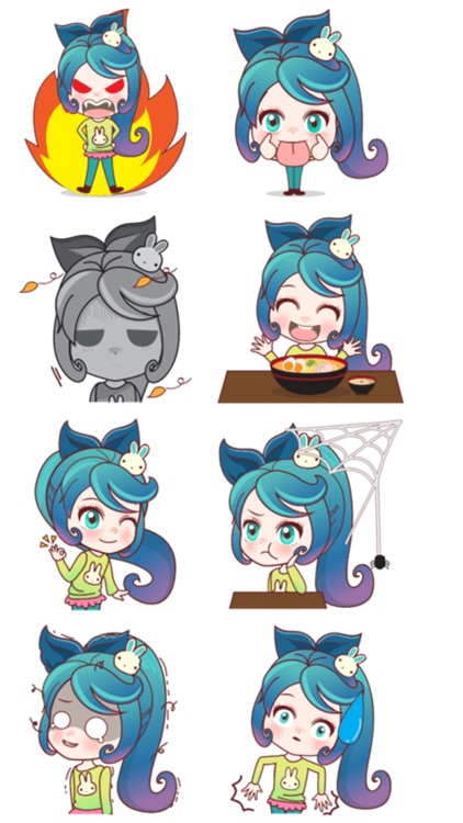 Mobile Girl Stickers screenshot-4