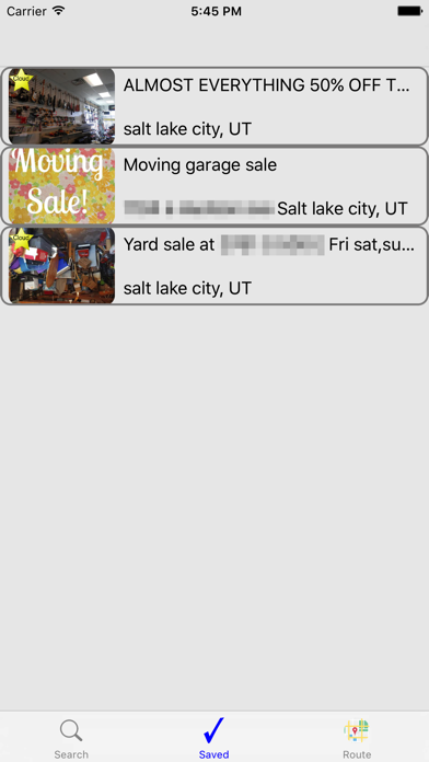 iYardsale screenshot two