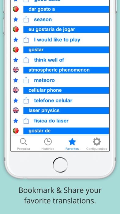 Offline English Portuguese Dictionary (Dicionário) screenshot two