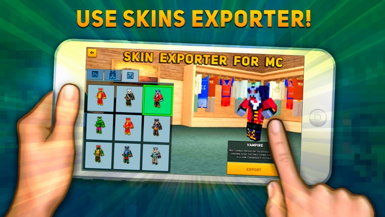 Block Сity Wars: game and skin export to minecraft screenshot-4