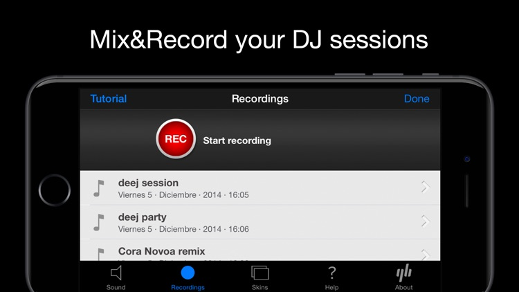 deej - DJ turntable. Mix, record, share your music screenshot-2
