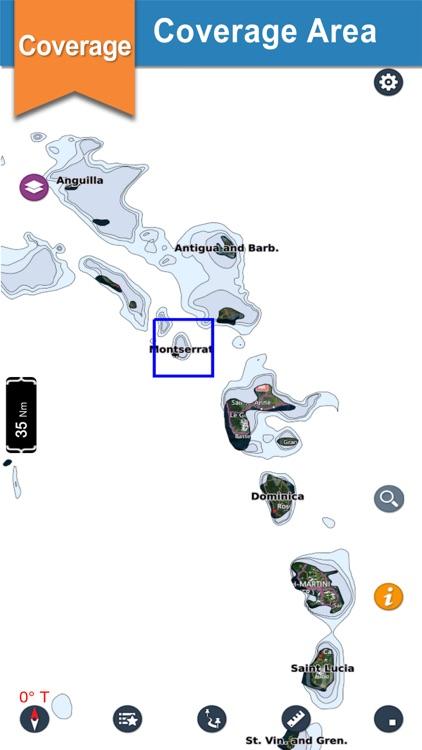 Marine Montserrat Nautical Map