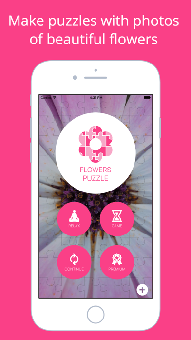 Flowers Puzzle - Play with your favorite flowers screenshot one