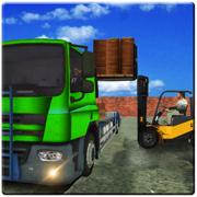 模拟卡车运送水果游戏。叉车模拟游戏