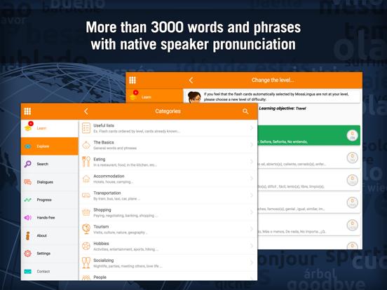 Learn Spanish - MosaLingua Screenshots