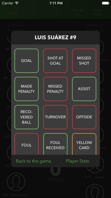 inGameStats Soccer