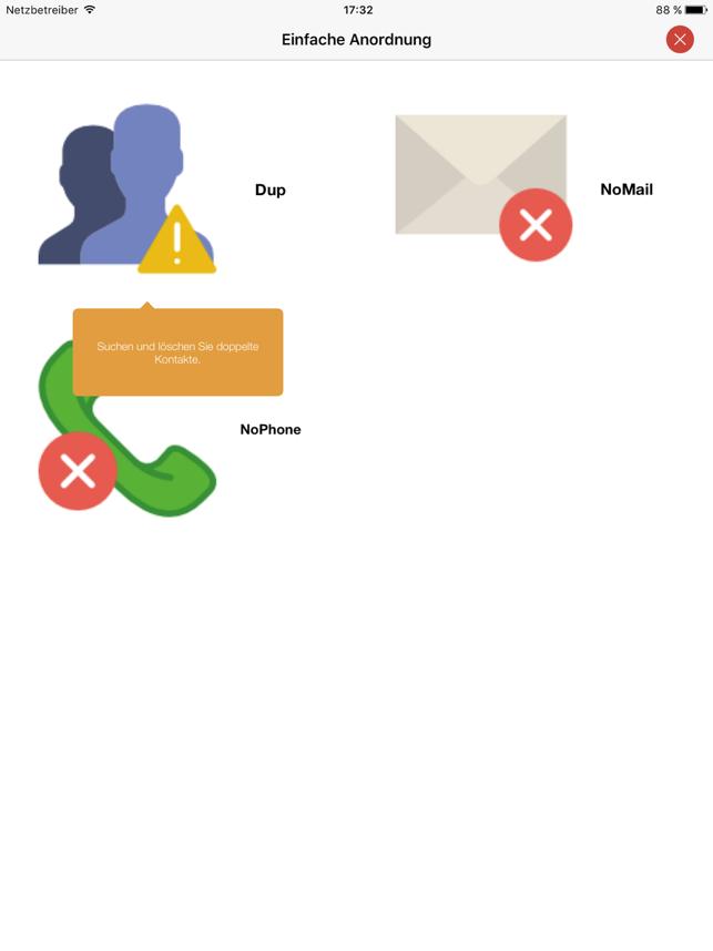 Einfach! Kontakte löschen und organisieren Screenshot