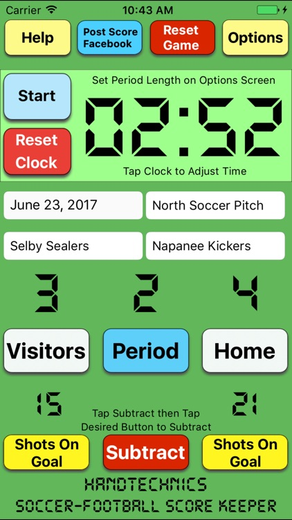 Soccer Football Score Keeper