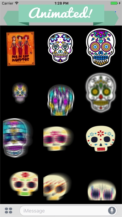 Animated Day of the Dead Stickers for Messaging