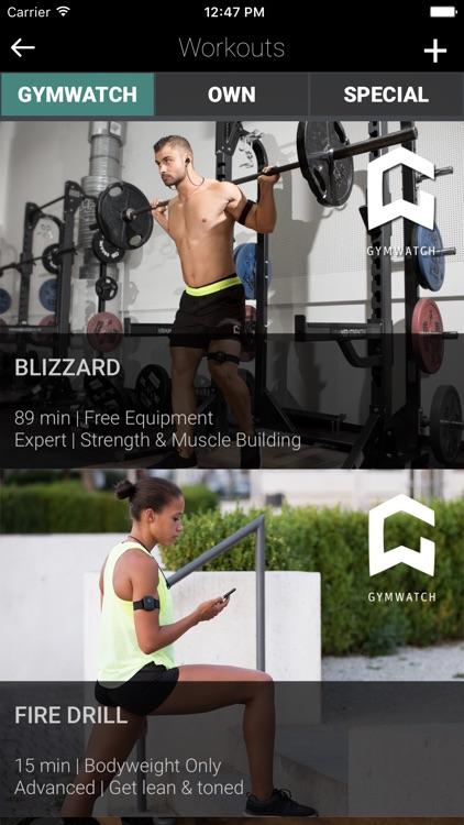 GYMWATCH Fitness & Workout App