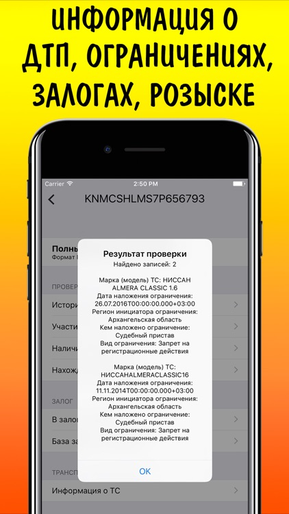 VIN code auto check ГИБДД ФССП ФНП РСА by Sergey Zhdanov