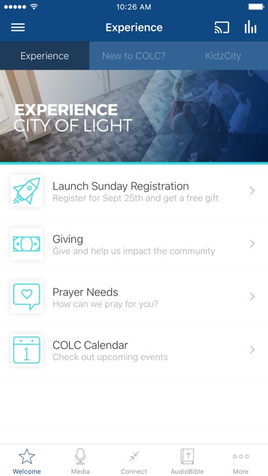 City of Light Church App screenshot one