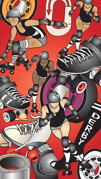 Roller Derby Stickers screenshot-1