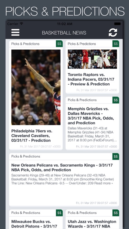 Live Basketball News & Predictions screenshot-2