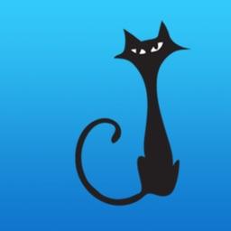 Cute Black Cat Talk Sticker