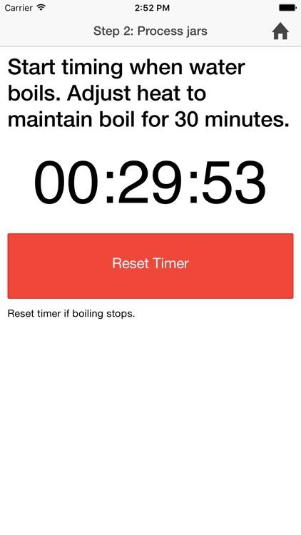 Canning timer & checklist screenshot-3