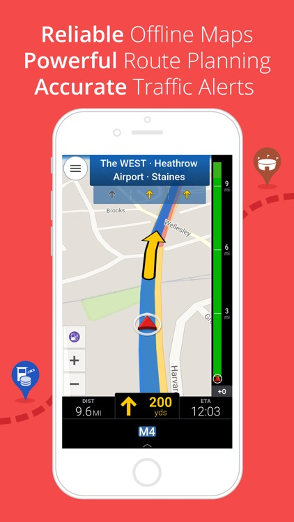 CoPilot Western Europe - Offline Sat-Nav & Maps screenshot-0